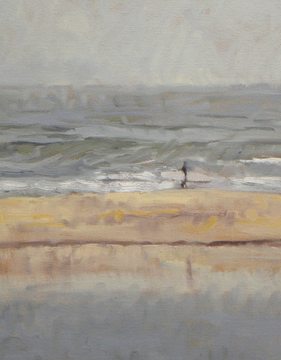 "Gina Niebergall, Solitary Surfer/Ventura/Misty, 18"" x 14"""