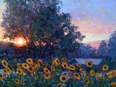 Copeland Drive Sunflowers #2 by Gina Niebergall