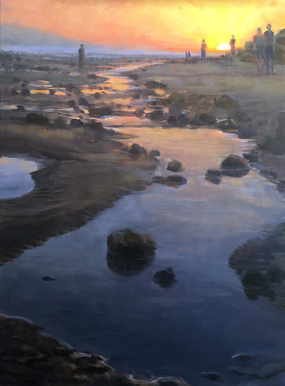 "Gina Niebergall, Tide Pool Sunset, 40"" x 30"""
