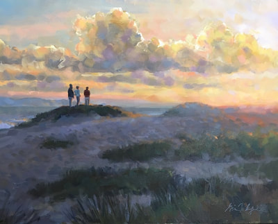 "Gina Niebergall, Family/Surfers' Point, Ventura, 24"" x 30"""