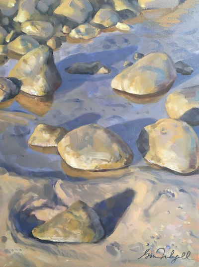 "Afternoon Tide Pool, Oil on canvas, 24""x18"" by Gina Niebergall"