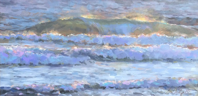 "Gina Niebergall, Late Day Breakers 2, 18"" x 36"""