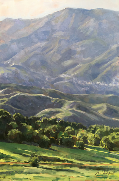 "Gina Niebergall, Purple Mountains' Majesty, Oil on Canvas, 36"" x 24"""