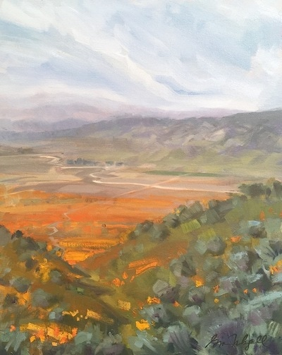 "Gina Niebergall, The Antelope Valley, Plein Air, 20"" x 16"""