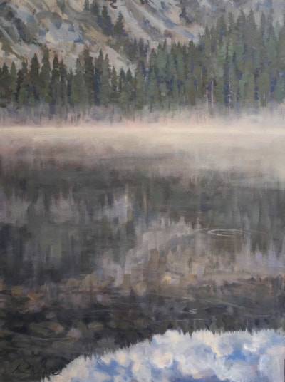 "The Day Begins / Yosemite, 40"" x 30"" Oil on Canvas by Gina Niebergall"