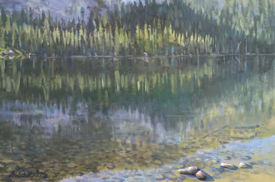 "Yosemite Rorschach, 24"" x 36"" Oil on Canvas by Gina Niebergall"