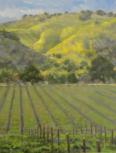 "Gina Niebergall, Young Vines/SantaYnez, 18"" x 14"""